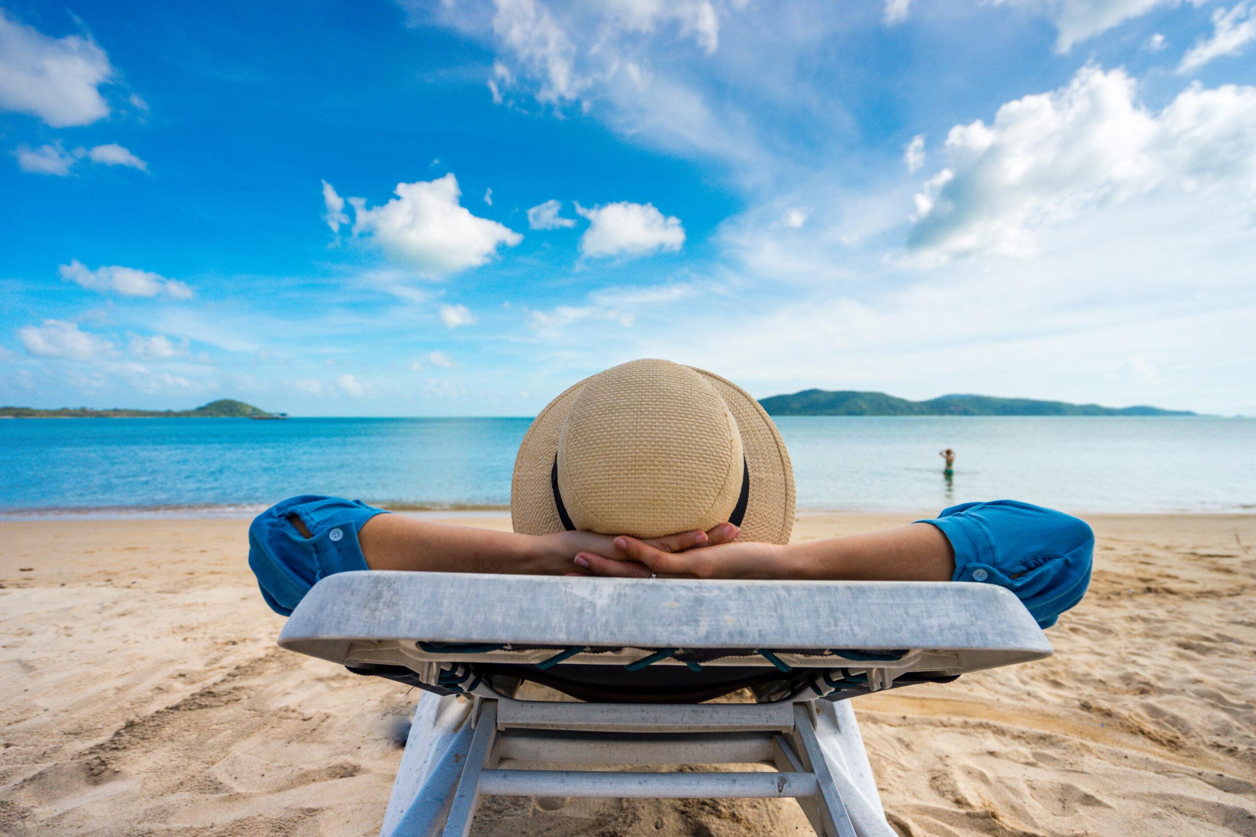 woman looking at Florida Keys Beach Vacation