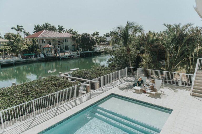 Oceanfront Vacation Rentals Marathon Florida Keys pool and boat dock