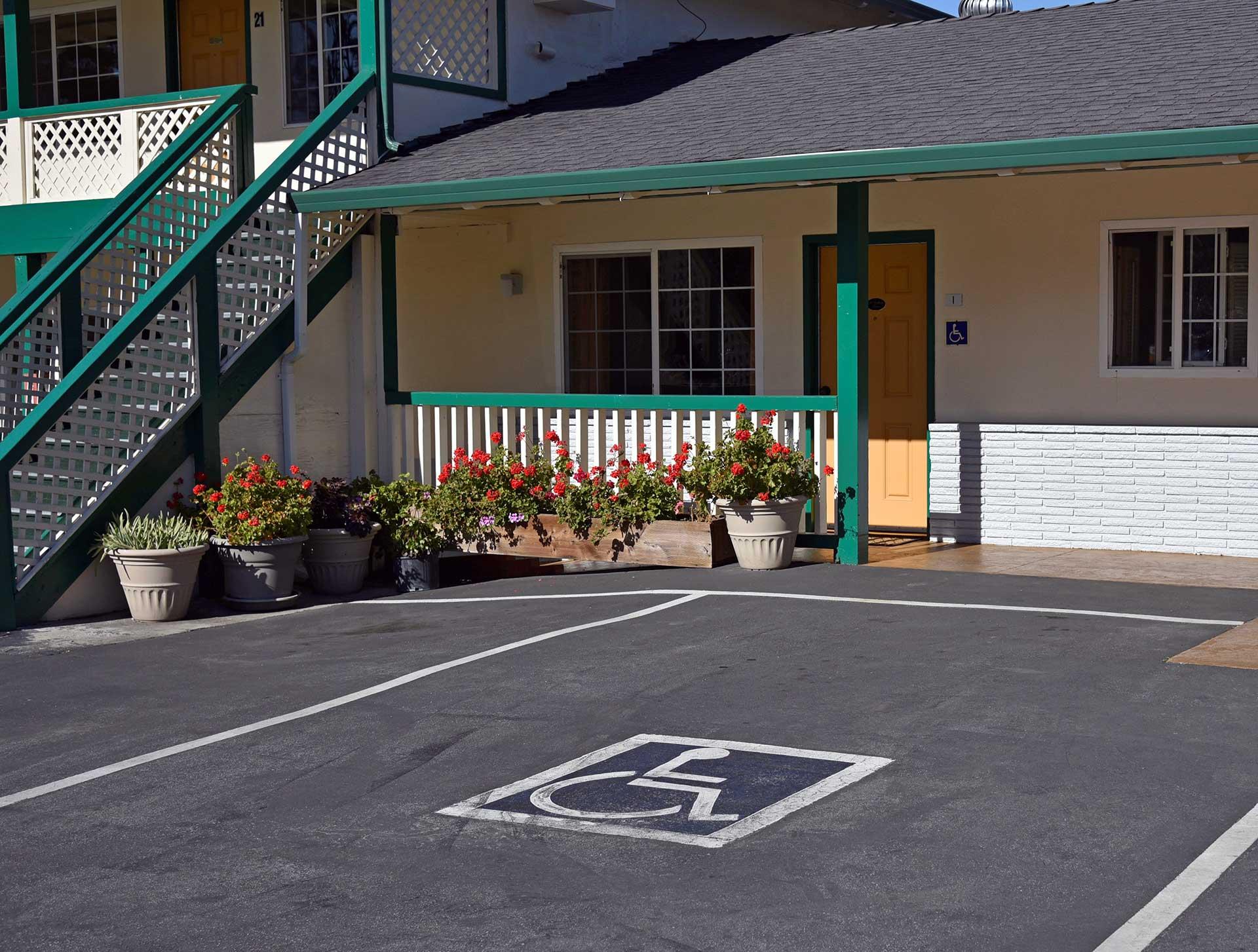 Monterey Pines Inn ADA Parking Stall