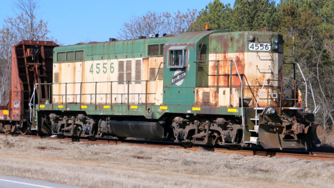 A Hartwell Railroad locomotive as seen on Feb. 7, 2015. (Photo by Todd DeFeo)