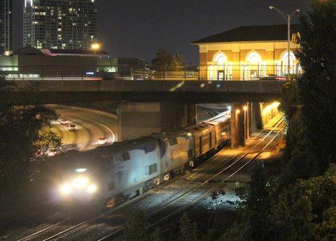 The Crescent departs Atlanta on Oct. 25, 2011.