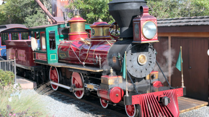 Roy O. Disney, formerly No. 251 of the United Railways of Yucatan, sits at Fantasyland Station on Dec, 28, 2014. (Photo by Todd DeFeo)