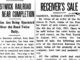 Newspaper headlines about the Bostwick Railroad.