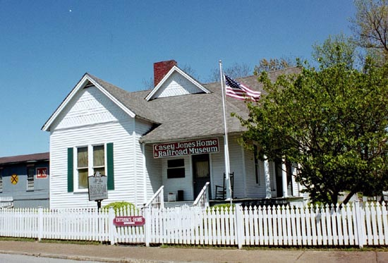 The former home of Casey Jones, perhaps the most famous locomotive engineer, is now a museum.
