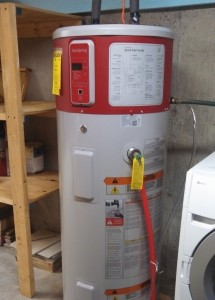 A Geospring Pro Water Heater installed in a Maine home.