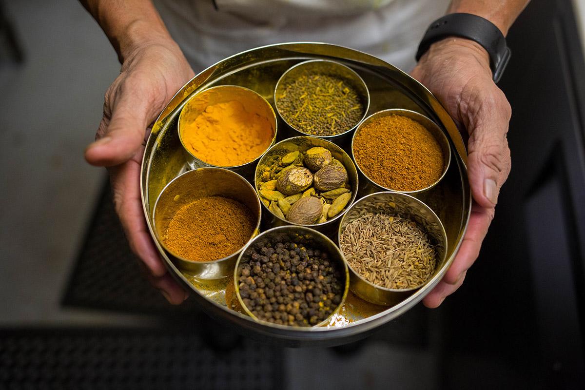 Spices used at Sidewalk Chef Kitchen
