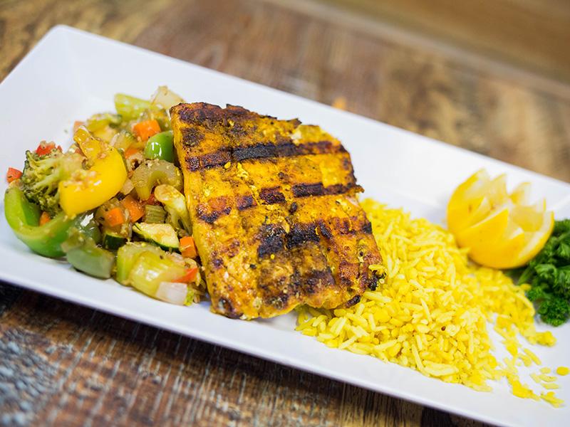 Wild Salmon at Sidewalk Chef Kitchen