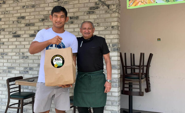 Aung La Nsang and Chef Shashank Agtey