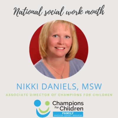 Photo of Nikki Daniels, MSW Associate director of champions for Children