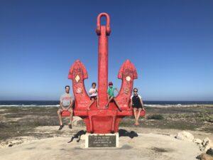 Red anchor in Aruba
