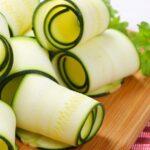 Ziti Pasta substitute Zucchini Strips