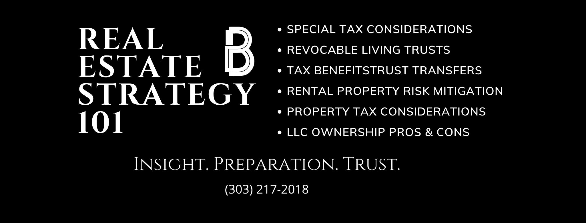 Colorado Real Estate Tax Strategy