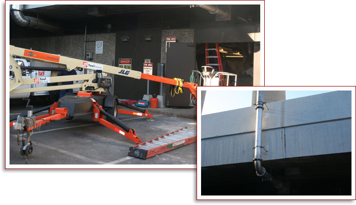 Engine Generator Exhaust Pipe Replacement for Logan International Airport