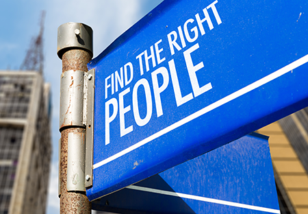 sign find the right people