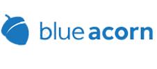 blue acorn text with acorn