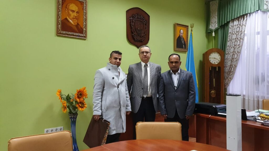 meeting with Dr. M. Korda, Rector