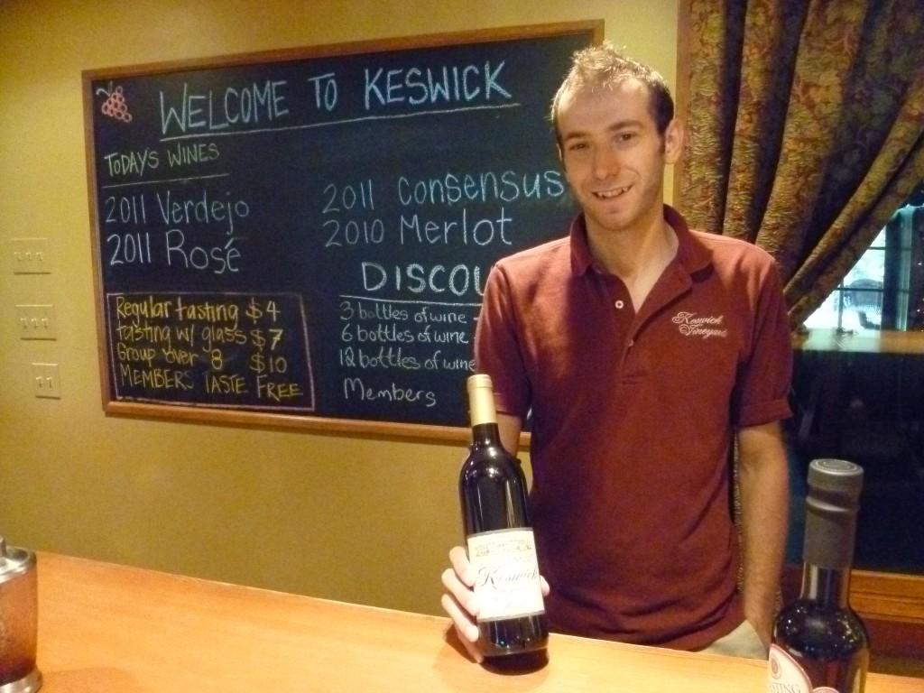 Brian at Keswick Vineyards