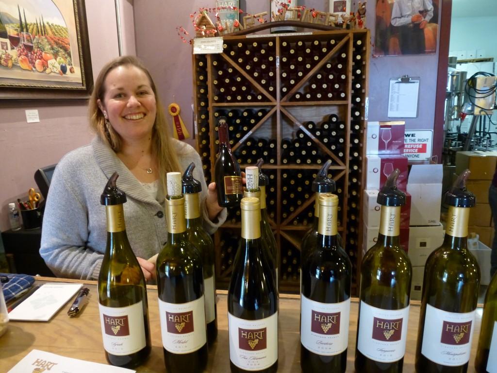 Kelli at Hart Family Winery