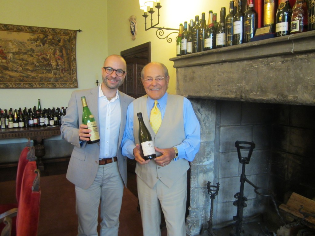 The author and Anthony Terlato (right) at Tangley Oaks