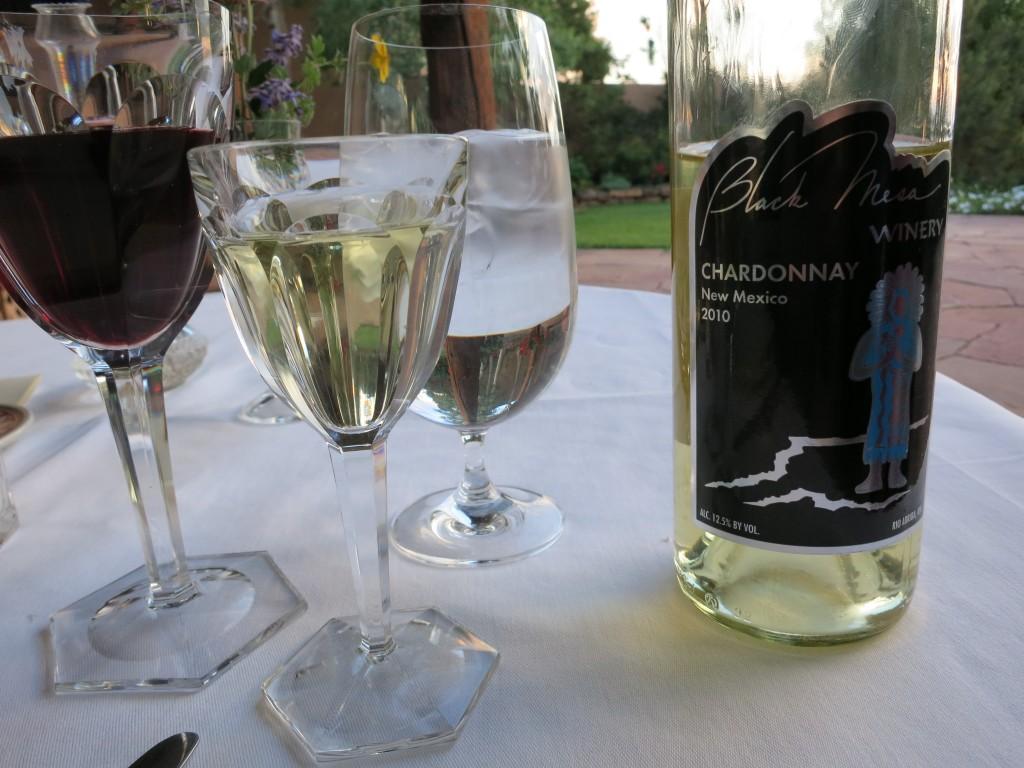 Black Mesa Chardonnay at the Hacienda del Cerezo