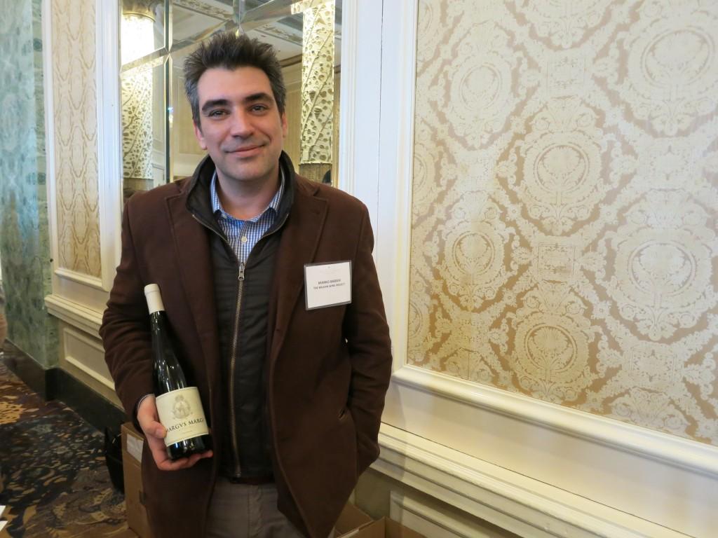 Marko Babsek of the Balkan Wine Project, introducing me to Stobi Vranec