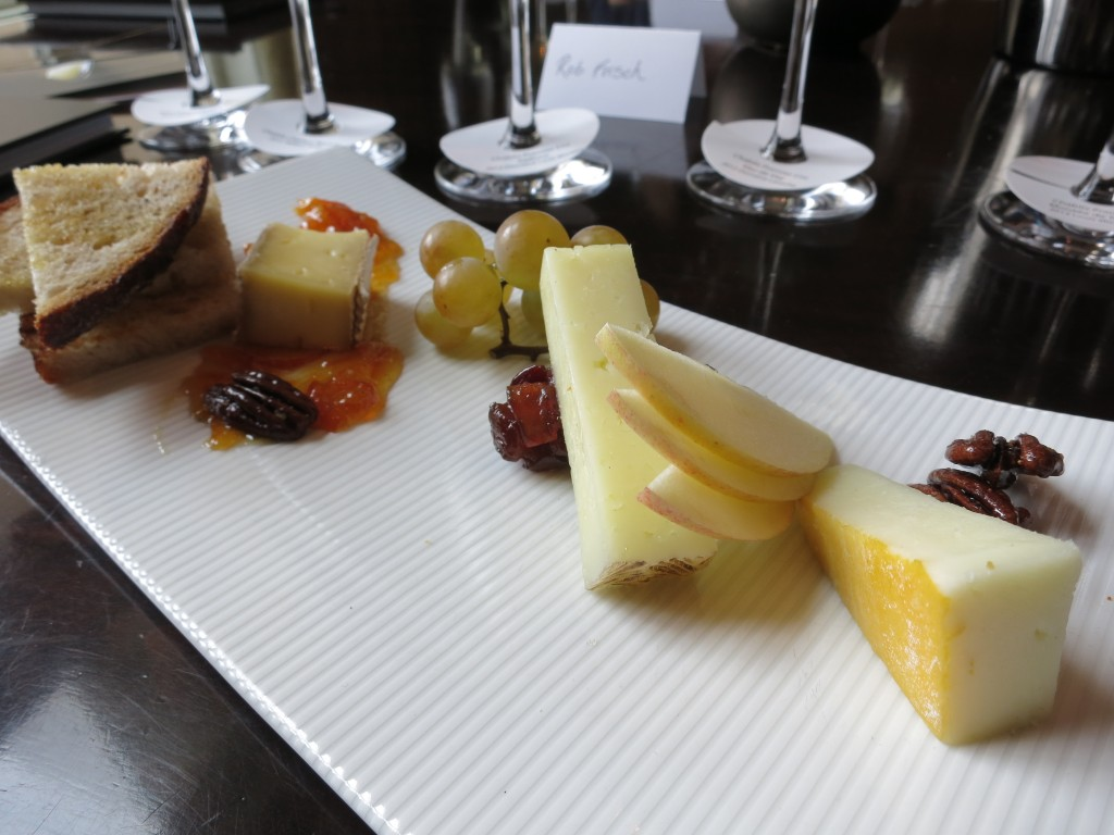Cheese plate with Chablis
