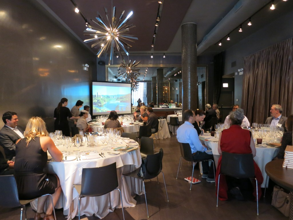 Wines of Tejo lunch in a private dining room of Chicago's Sepia restaurant