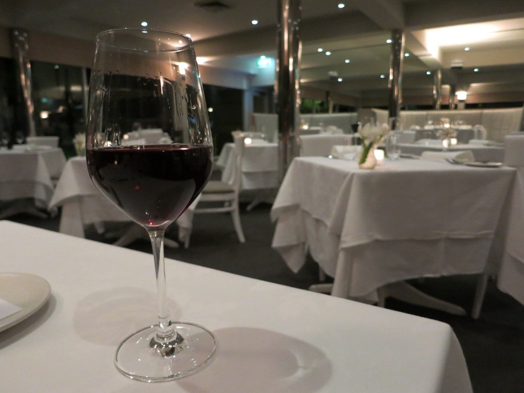 Stella Bella Tempranillo at Jonah's restaurant in Whale Beach, Australia