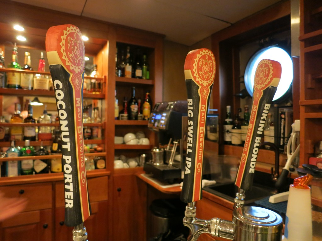 Maui Brewing Co. beers on tap