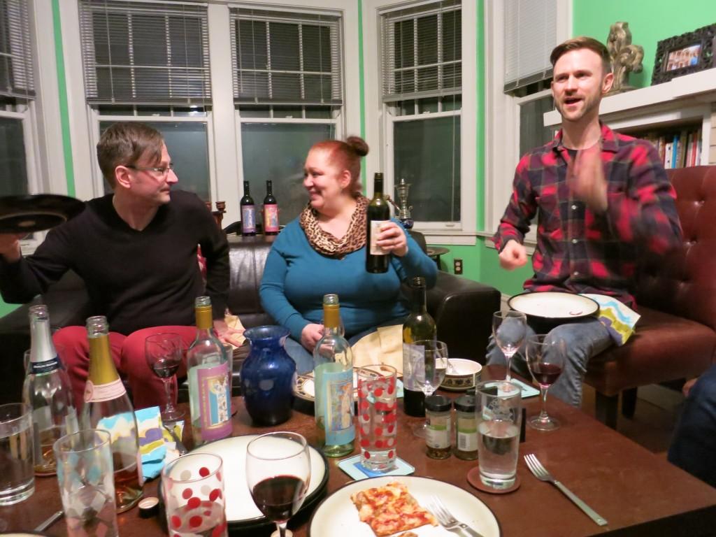 Tasters Scott, Sonja and Thom