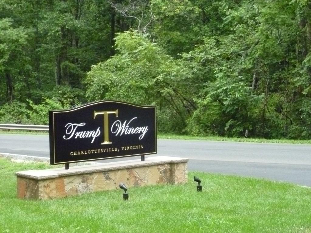 Trump Winery Entrance