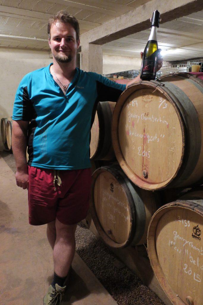 Winemaker Laurent Trapet in his family's cellar