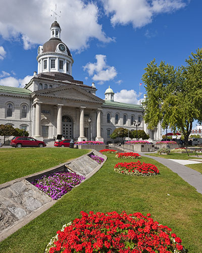 City Hall of Kingston, Ontario, Canada. Kingston is one of the best architectural history destinations in Canada.
