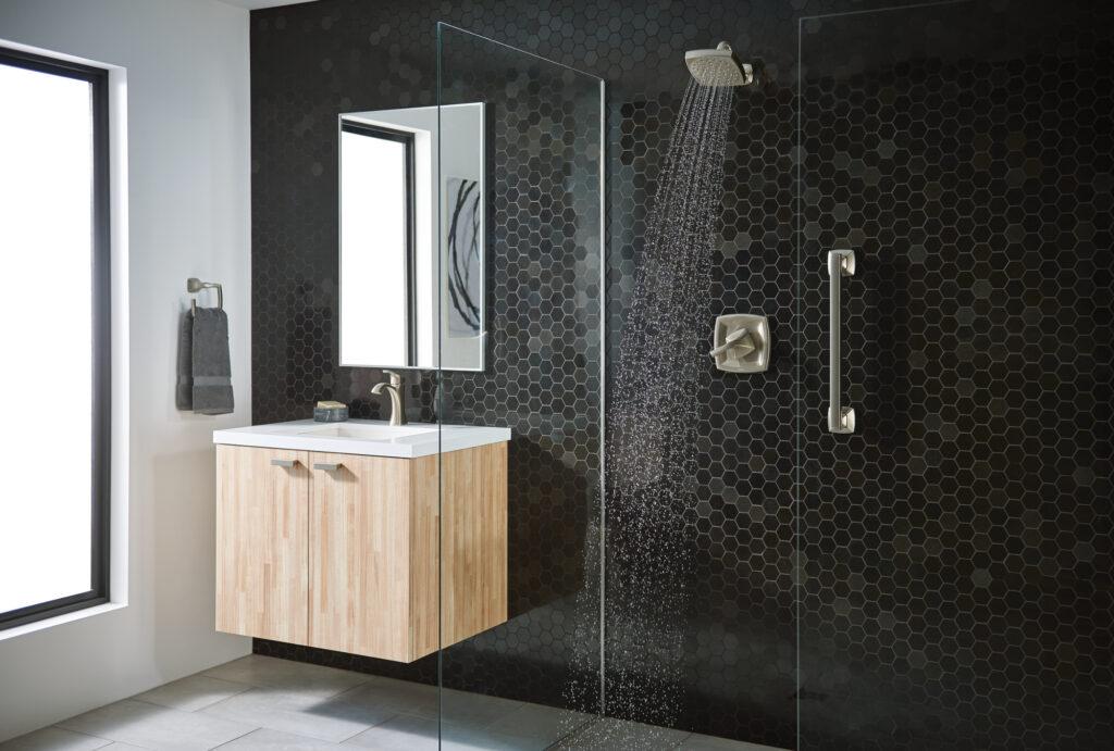 Moen Voss Bath Collection - Zero threshold walk-in shower