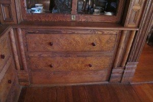 Built in China Cabinet at the Magnolia House Cameron TX