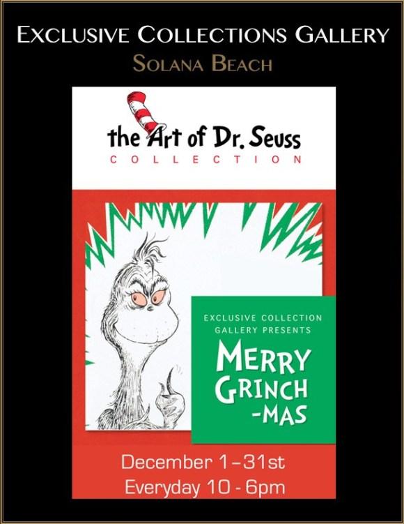 Dr. Seuss Art Exhibit Merry Grinchmas