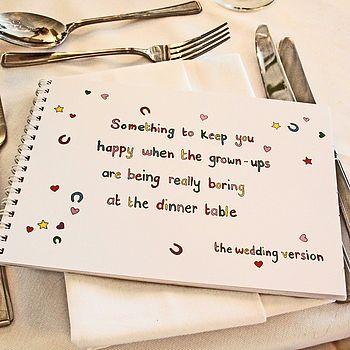 Childrens Wedding Activity Book