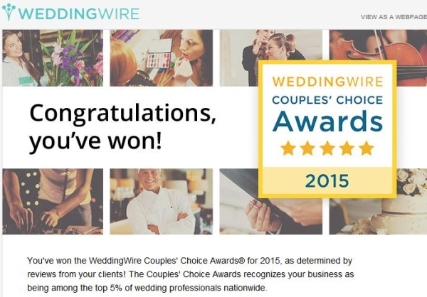 We Won –  Couples' Choice Award 2015 !