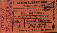 Rolling Stones, Rubber Bowl ticket