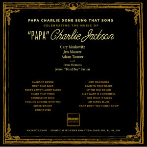 Papa Charlie back cover