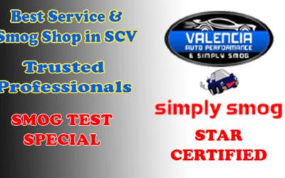 SMOG TEST SAVINGS   Valencia Auto Performance & Simply Smog