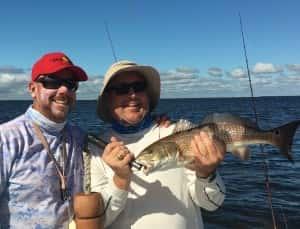 Redfish Tampa Bay Fishing the Flats 813-758-3406