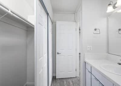 Summerwood apartments bathroom area with bathtub and shower