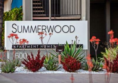 Summerwood apartment homes sign