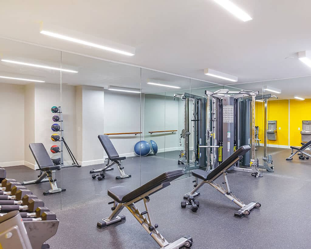 Fitness Gym with equipment
