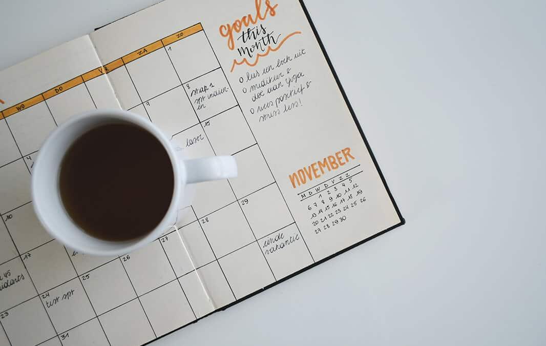 Goal calendar tracker