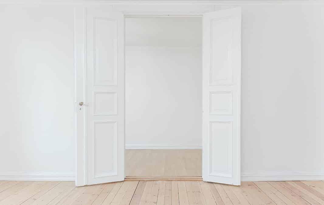 Open doors in empty house