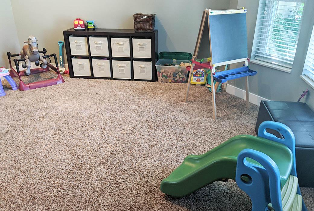 clean playroom