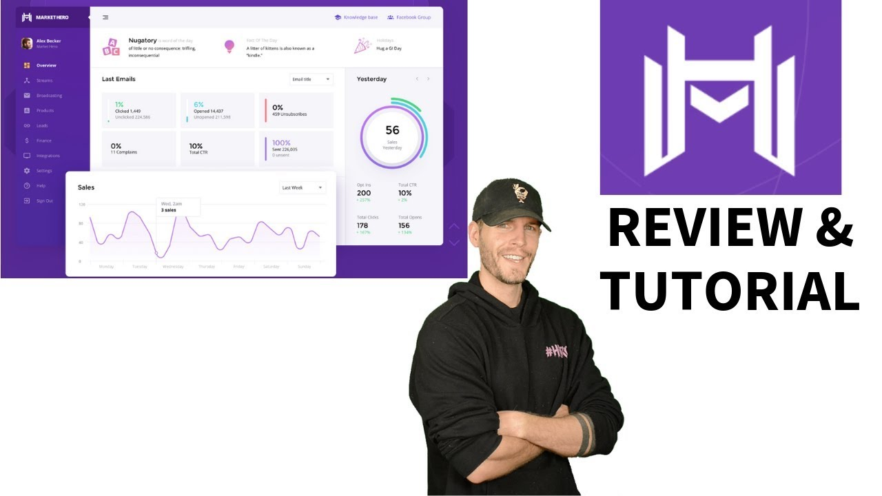 Building an Email Sales Funnel in Market Hero Software by Alex Becker (Tutorial)