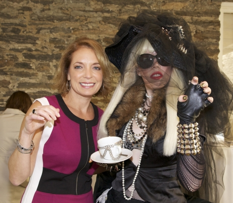 Jill Prince of Hal Prince Music and Entertainment with Lady Gaga Look Alike. Photograph by Bob Rozycki